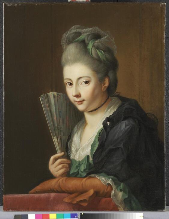 Amalie Tischbein, gemalt vermutlich von ihrem Vater JOhann Heinrich Tischbein (Kassel) um 1777.